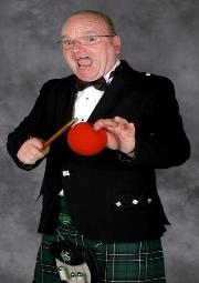Michigan Magician Hugh Irwin in his Scottish Highland Kilt